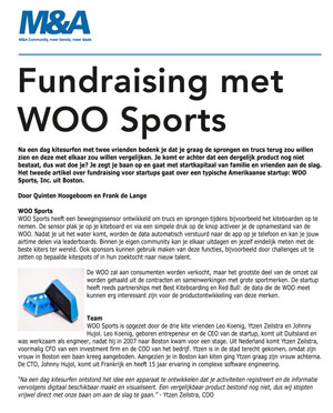 M&A | Fundraising met WOO Sports